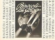 Y2468 Binocoli San Giorgio - Pubblicità del 1942 - Old advertising
