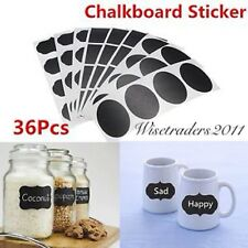 36pcs Removable Chalkboard Blackboard Cup Jar Jam Label Wall Sticker Decal