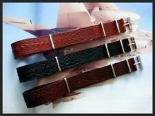24mm Black Tan Brown Buffalo calf NATO G10 UTC Pilot strap IW SUISSE 18 20 22 26