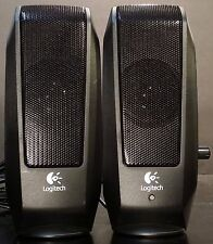 Logitech S-120 Computer Speakers, Headphone Jack, Volume Control Listen to Video