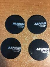 4 PCS BRAND NEW black ADVAN racing Sticker wheel center cap emblem logo 45 mm