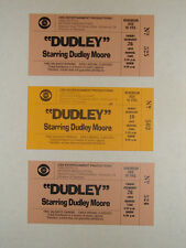"""""""DUDLEY' STARRING DUDLEY MOORE COLLECTION OF 3 ORIGINAL 1993 TICKETS CBS TV"""