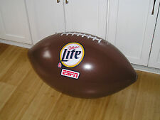 """NEW LARGE MILLER LITE ESPN INFLATABLE 30"""" X 15.5"""" CEILING MOUNTED FOOTBALL"""