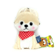 """AMUSE Stuffed Animal Mameshiba San Kyodai Gamakuchi 6"""" Pouch (Sasuke) 23c41"""