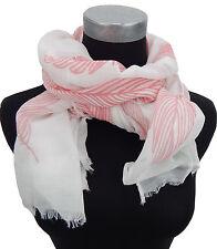 Damenschal Feder Ibiza weiß pink by Ella Jonte Federn Schal Ethno Viskose new in