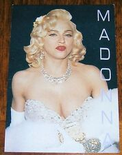 MADONNA UK POSTCARD 1991 ACADEMY AWARDS 91 silver dress diamonds fur photo rare
