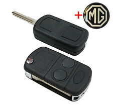 LUCAS MG Rover 25 45 ZR ZS car FLIP KEY fob with key blank +free MG logo KEY.004