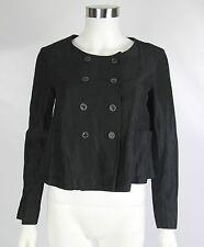 Ter Et Bantine Womens Size 40 US 4 Black Wool Blend Italy Cropped Swing Jacket