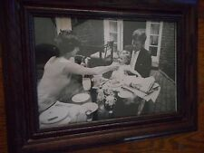 Framed Photograph of John F. Kennedy w/ Jackie and Caroline