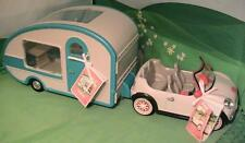 New Camper w Lights & Go Everywhere Convertible Car w Radio Lori Our Generation