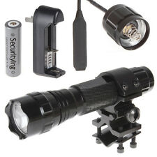 501B CREE T6 Flashlight +  Tactical Bracket for Rifle&Remote Switch + Battery