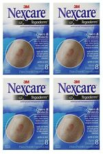4 Pack - 3M Nexcare Tegaderm Transparent Dressing 2 3/8 x 2 3/4, 8 Count Each