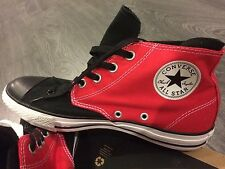 CONVERSE All Star Unisex Canvas Multicolor (Red&Black) SPLIT MID HI TOP size 8