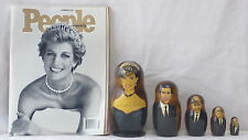 LADY DIANA NESTING - STACKING DOLLS & PRINCESS DI PEOPLE MAGAZINE FROM 9-15-1997