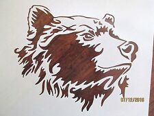 Bear Stencil for Airbrush, Crafting, Art Work, etc.