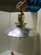 Vintage Pull Down LAMP Retractable Ceiling Light Mid Century Flying Saucer UFO