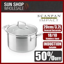 100% Genuine! SCANPAN Impact 20cm 3.2L Covered Dutch Oven Casserole! RRP$119.00!