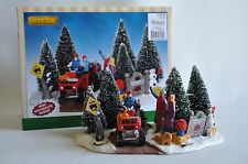 Lemax Hidden Acres #43070 Here Comes Our Tree Christmas Village Decorations