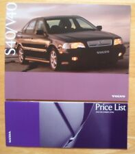 VOLVO S40 & V40 1996-97 UK Mkt prestige sales brochure + Price List