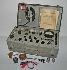 【RARE】Vintage 50's Military US Army TV-7A/U Electron Tube-Test Set!~WORKS GREAT