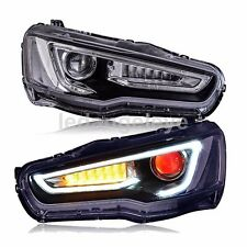 For Audi Style LED Strip Front Light For Mitsubishi Lancer Exceed 2008-2013 Year