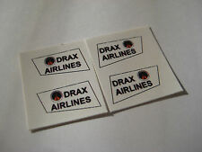 Corgi No 73 Juniors - James Bond Drax Jet Ranger Stickers - B2G1F