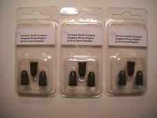 3 Packs of 5/16 oz TUNGSTEN WORM WEIGHTS (9 total) in Green Pumpkin color