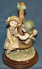 G ARMANI Figurine Statue Sculpture Boy Giving Girl Flower Florence Italy Vtg