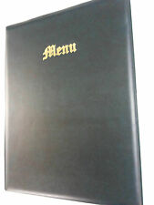 A4 MENU COVER/FOLDER IN GREEN LEATHER LOOK PVC - OLD ENGLISH LOOK