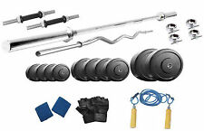 Protoner  32 kg   with 4 rods weight lifting home gym fitness pack