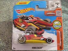 Hot Wheels 2016 #025/250 Honda Racer Rojo sobre Amarillo Funda De Circuito Digital L