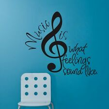 Removable Music Notes Wall Sticker Mural Vinyl Art Decal Home Decor Words Quote