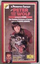 A PROKOFIEV FANTASY WITH PETER AND THE WOLF narrated by sting  VHS VIDEOTAPE