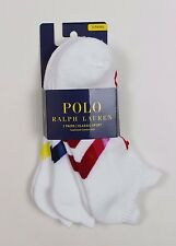 Ralph Lauren - White 3 Pack Sport Trainer Socks - ONE SIZE - RRP £19