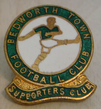 BEDWORTH TOWN now UNITED pre 1968 SUPPORTERS CLUB badge Button hole 24mm x 28mm