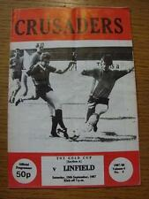 19/09/1987 Crusaders v Linfield [Northern Ireland Gold Cup] (Folded)