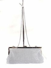 NWT Style&Co. Darcy Small Frame Clutch White Silver Tone Hardware Metal mesh
