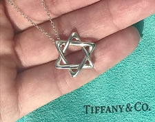 Tiffany & Co Elsa Peretti Sterling Silver Star of David 18mm Pendant Necklace