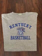 Men's L Embroidered Kentucky Wildcats Basketball Gray T-Shirt