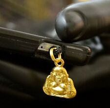 Gold Buddha cell phone Charm Anti Dust Plug Ear Jack For iPhone smartphone