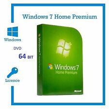 Microsoft Windows 7 Home Premium 64 Bit Full Version SP1 NEW COA KEyY and DVD