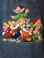 Disney Store Seven Dwarfs Denim Embroidered Jacket Sz M Dopey Doc Grumpy Sleepy
