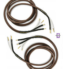 Analysis Plus Bi-Wire Chocolate Oval 12/2 Speaker Cable Bi-Wired Pair 6ft
