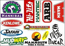 Vinyl stickers for Hannibal Roof Tent and 4WD Off Road Expedition SUV ATV owners