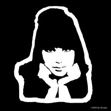 Cher Rock & Roll Pop Singer Songwriter Sonny and Cher 1960s Decal Sticker White