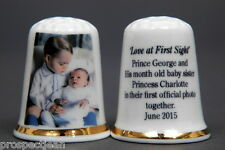 HRH Prince George & Princess Charlotte 2015 Love At First Sight Thimble B/142