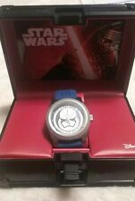"Star Wars ""Storm Trooper"" Perforated Blue Rubber Strap Watch"