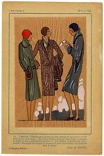 Très Parisien, Mode, handkolorierte gouachierte Lithographie von 1929.