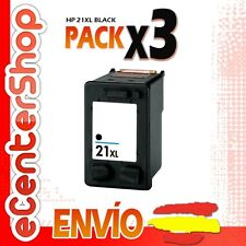 3 Cartuchos Tinta Negra / Negro HP 21XL Reman HP Deskjet F4100 Series