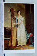 Art Sully Lady with a Harp Eliza Ridely Postcard Old Vintage Card View Standard
